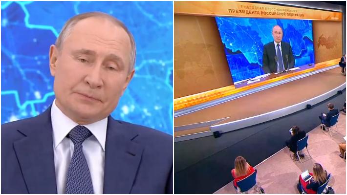 """Путин более 4,5 часа отвечал на вопросы россиян и журналистов / Коллаж: ФБА """"Экономика сегодня"""""""