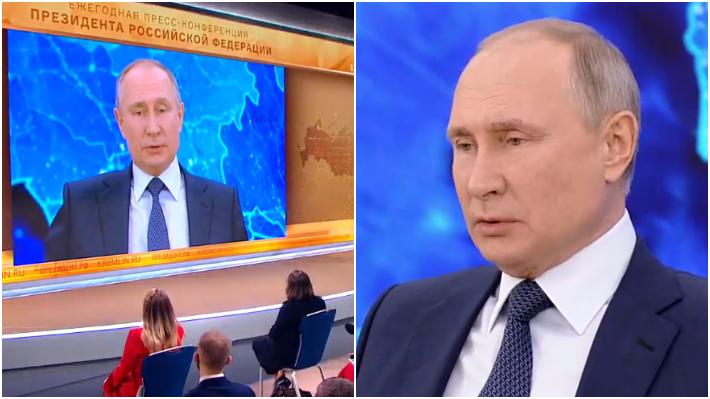 """Путин в 2020 году отвечал не только журналистам, но и рядовым гражданам / Коллаж: ФБА """"Экономика сегодня"""""""